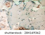 wall with cracked paint... | Shutterstock . vector #284169362