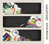 vector set of three back to... | Shutterstock .eps vector #284169395