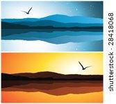 sea landscape  vector... | Shutterstock .eps vector #28418068