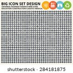big icon set business financial ... | Shutterstock .eps vector #284181875