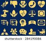 medical icon set. style  icons... | Shutterstock .eps vector #284190086