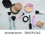 makeup eyeliner brush with... | Shutterstock . vector #284191262