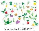 set of vegetables | Shutterstock .eps vector #28419313