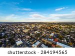 Aerial View Of Small City Of...