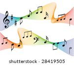 music notes background | Shutterstock .eps vector #28419505