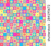 colorful decorative elements  ... | Shutterstock .eps vector #284195672