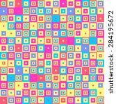 colorful decorative elements  ... | Shutterstock .eps vector #284195672