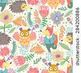 vector seamless pattern made... | Shutterstock .eps vector #284200886
