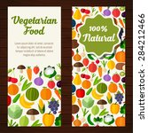 fruits and vegetables banners.... | Shutterstock .eps vector #284212466