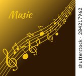 illustration of music and color ... | Shutterstock .eps vector #284217962