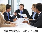 group of business people having ... | Shutterstock . vector #284224058