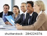 group of business people... | Shutterstock . vector #284224376