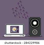 music design over purple...