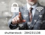 social network wi fi... | Shutterstock . vector #284231138