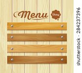 menu wood board design... | Shutterstock .eps vector #284237396
