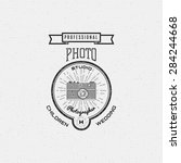 photography logo badges logos... | Shutterstock .eps vector #284244668