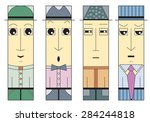 Squared Men Faces   Moods  ...