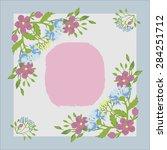 wild flowers frame vector | Shutterstock .eps vector #284251712