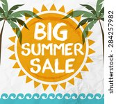 summer sales vector | Shutterstock .eps vector #284257982