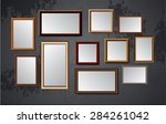 dark brown wood frames vector... | Shutterstock .eps vector #284261042