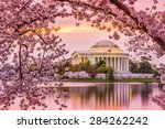 washington  dc at the tidal... | Shutterstock . vector #284262242