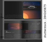 brochure template design. ... | Shutterstock .eps vector #284265875