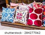 oriental cushions  | Shutterstock . vector #284277062