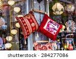 oriental cushions    Shutterstock . vector #284277086