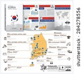 republic of korea travel guide... | Shutterstock .eps vector #284278556