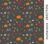 vector seamless pattern with... | Shutterstock .eps vector #284279396