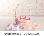Wedding Basket With Roses...