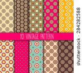 seamless pattern. vintage... | Shutterstock .eps vector #284282588