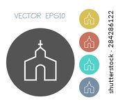 Church Icon. Vector Illustration