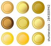 set medals   Shutterstock . vector #284300942