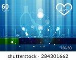 heart ecg abstract background   ... | Shutterstock . vector #284301662