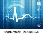 ecg abstract background  ... | Shutterstock . vector #284301668
