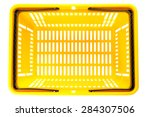 overhead view of empty plastic... | Shutterstock . vector #284307506