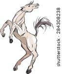 white horse | Shutterstock . vector #284308238