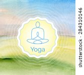 vector yoga illustration.... | Shutterstock .eps vector #284310146