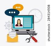 customer design over white... | Shutterstock .eps vector #284314508