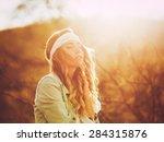 fashion lifestyle  portrait of... | Shutterstock . vector #284315876