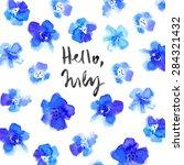 Hello July  Calligraphy...