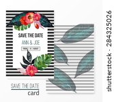 vector watercolor template save ...   Shutterstock .eps vector #284325026