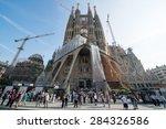 barcelona spain   circa...   Shutterstock . vector #284326586