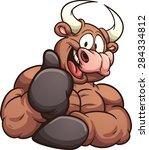cartoon bull. vector clip art...