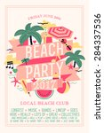 beautiful beach party design... | Shutterstock .eps vector #284337536