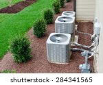 ac units connected to the...   Shutterstock . vector #284341565