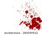 dark red splash on white... | Shutterstock .eps vector #284349422