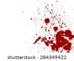 dark red splash on white... | Shutterstock .eps vector #284349422