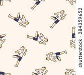shuttlecock exercise   cartoon...   Shutterstock . vector #284359652